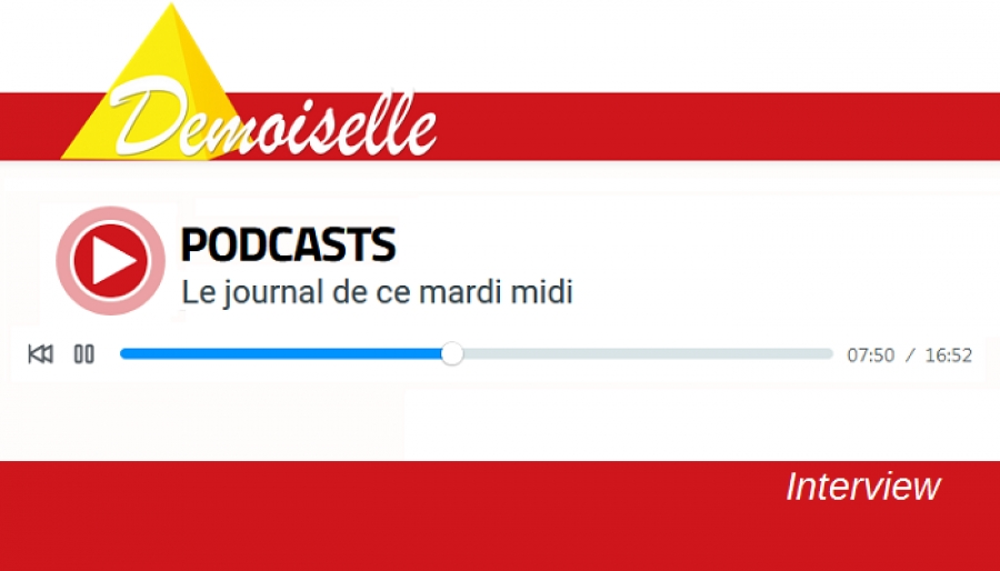 Demoiselle FM : intervention dans le journal de midi